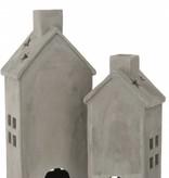 J-Line Theelicht huis cement L