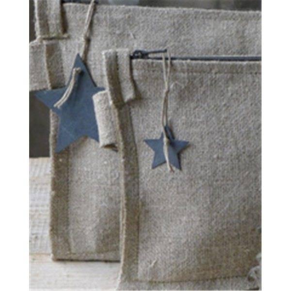 Un Esprit en Plus Linnen bag silver star