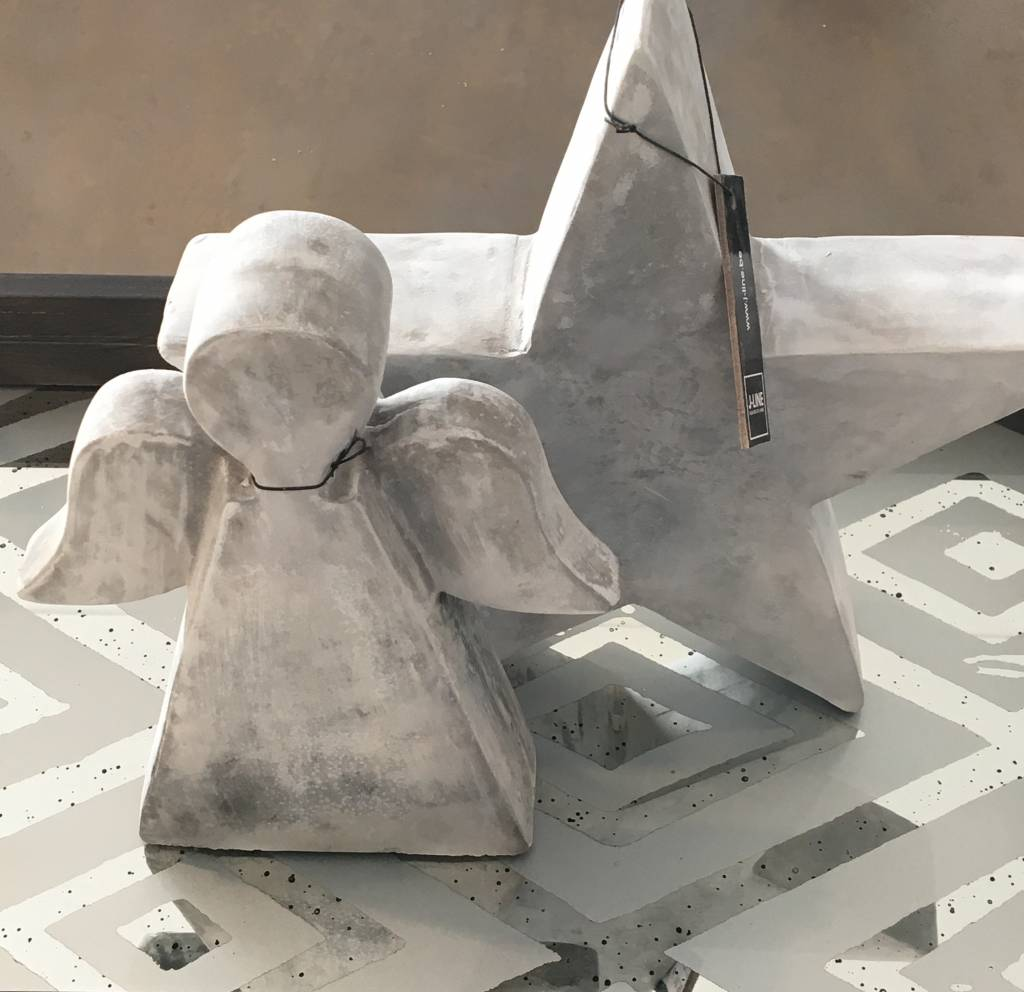 J-Line Engel cement grijs