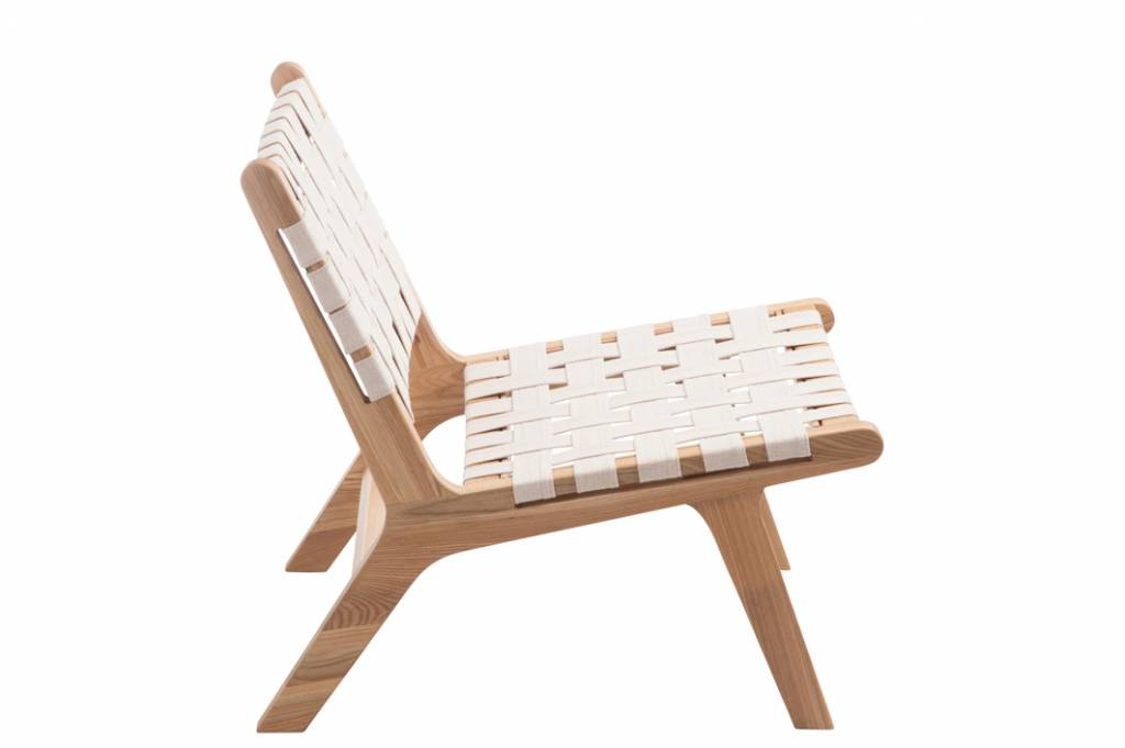 J-Line Lounge chair ethnic white
