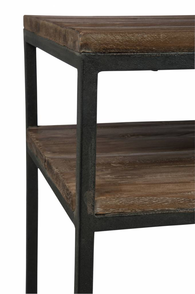 J-Line Console black metal & natural wood
