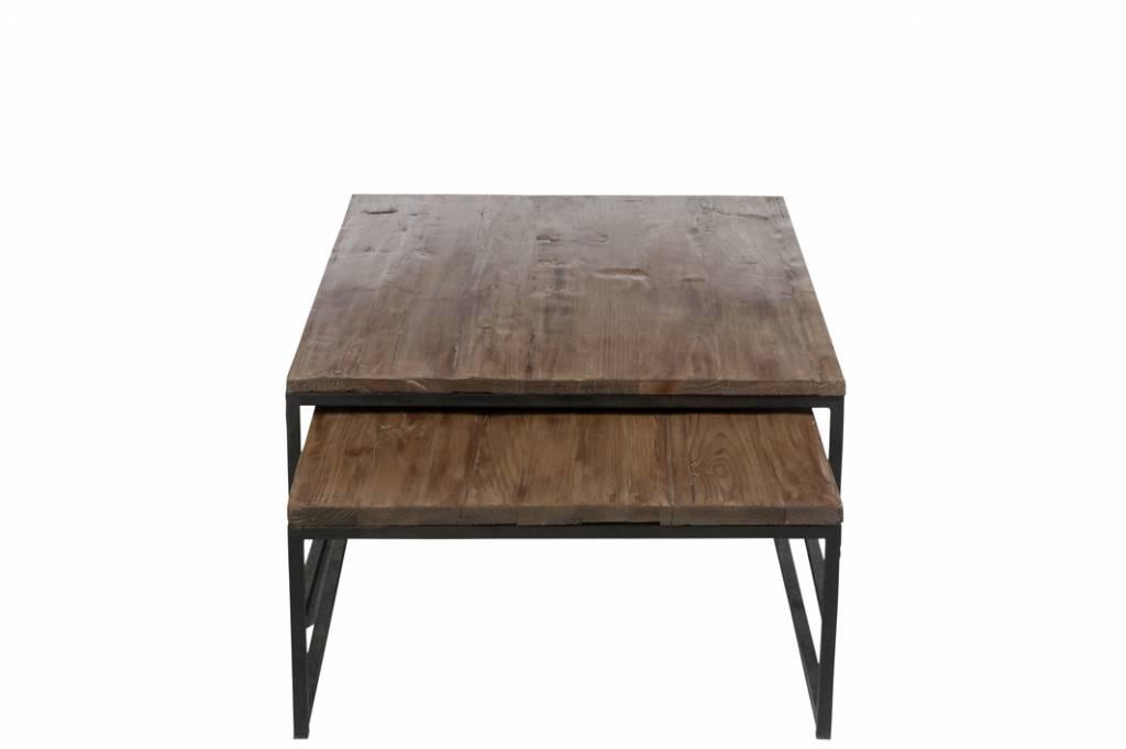 J-Line Nesting tables Black & Brown