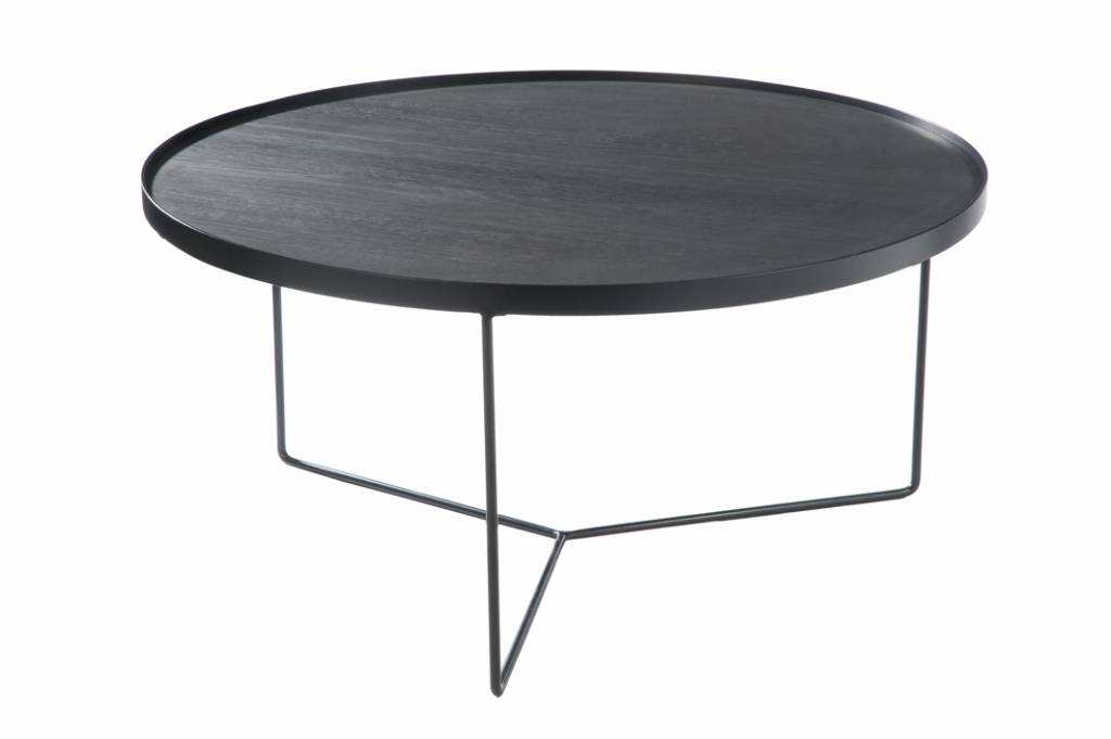 J-Line Side table Black-brown large