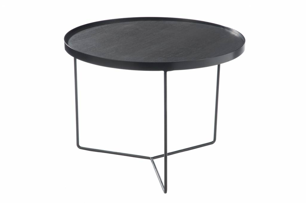 J-Line Side table Black-brown medium