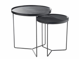 J-Line Nesting tables Black-brown