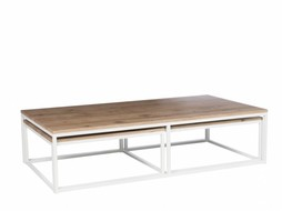 J-Line Salontafel set wit & naturel