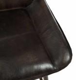 J-Line Barstoel leder & metaal bruin