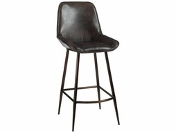 J-Line Barchair leather & metal