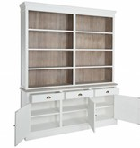 J-Line Library or kitchen cabinet white & natural
