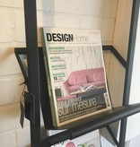 Dome Deco Magazine rack with leather