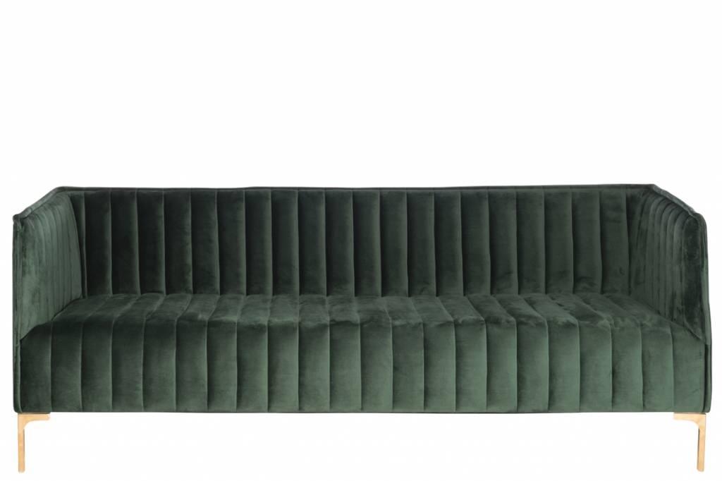 J-Line Couch green Velvet 2,5p