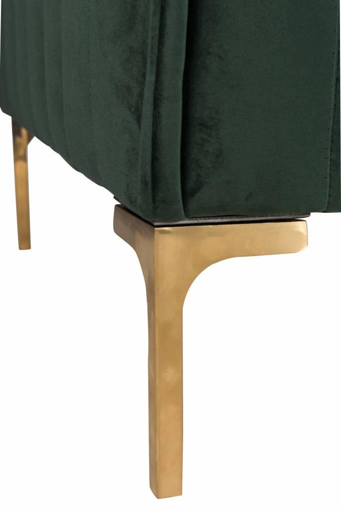 J-Line Zetel groen Velvet 2,5p