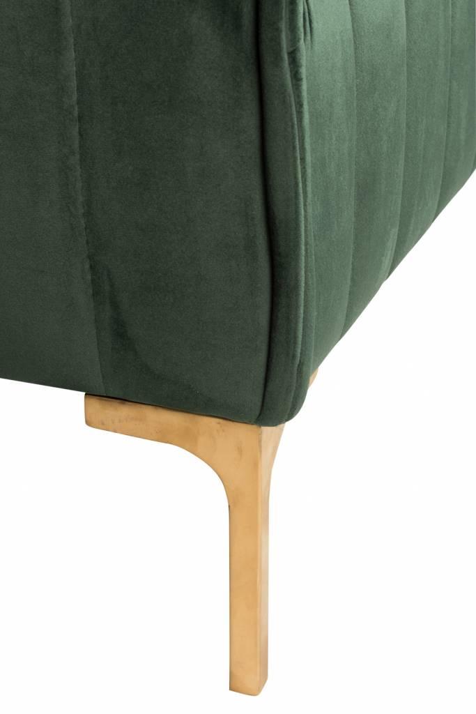 J-Line Groene stoel Velvet 1p