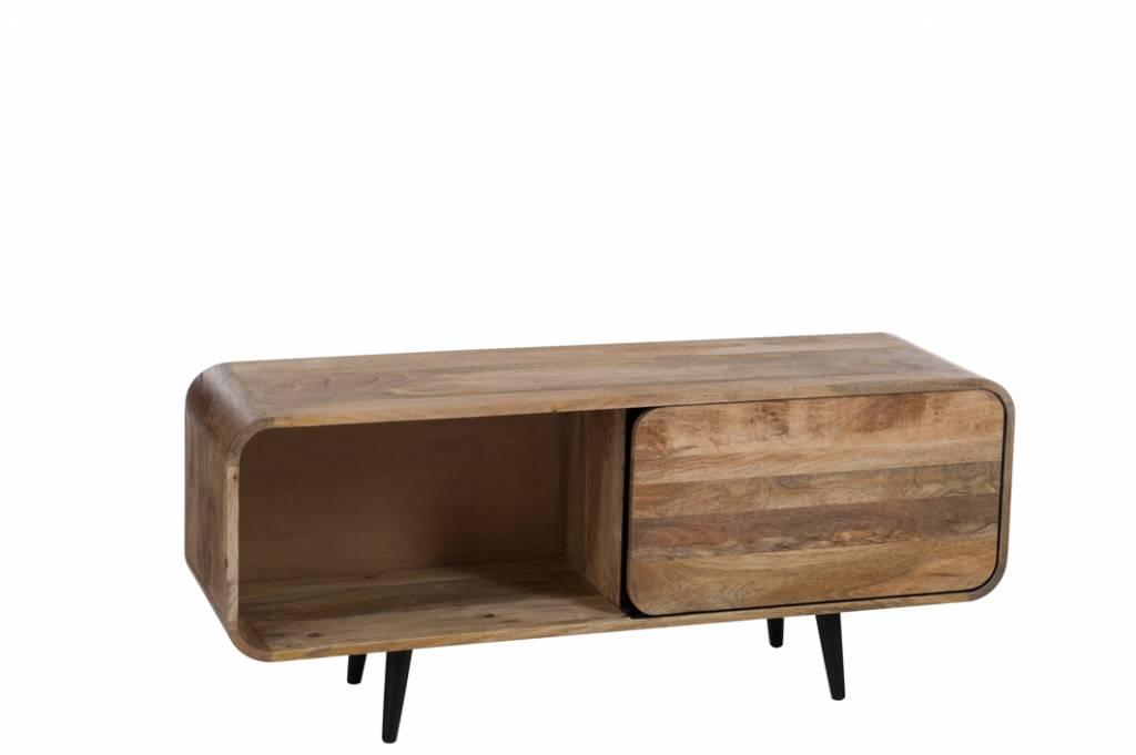J-Line TV-meubel Retro met schuifdeur