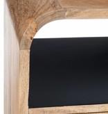 J-Line Dressoir Retro zwart - bruin