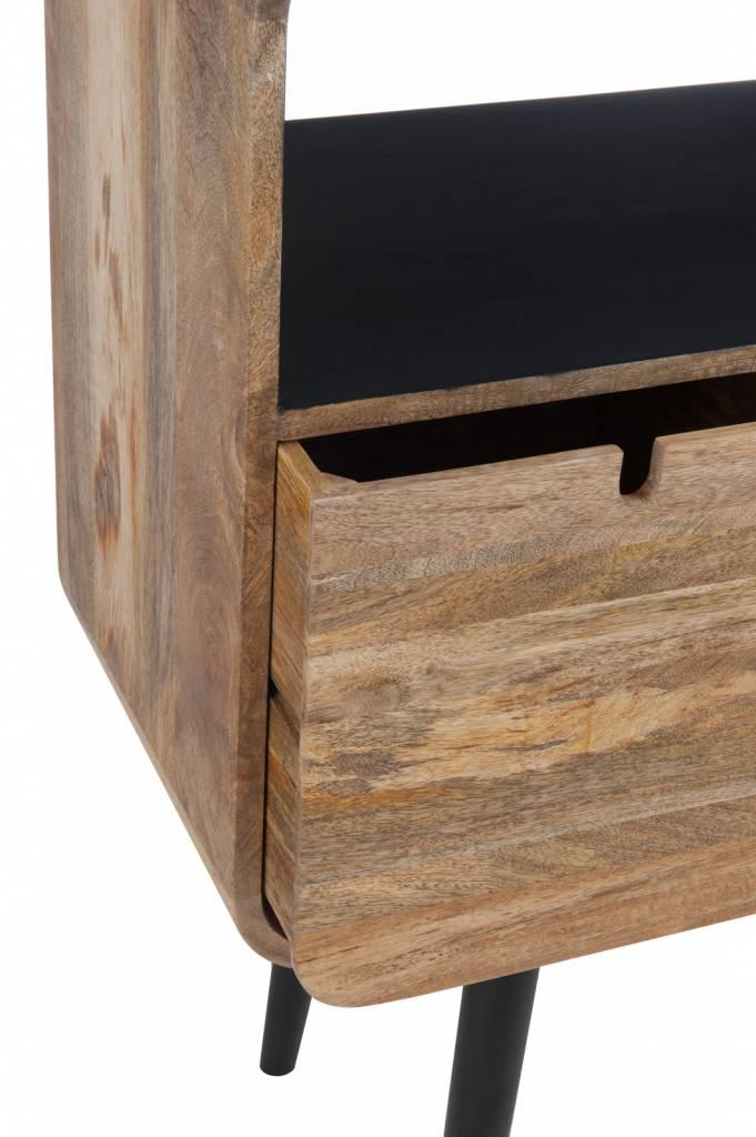 J-Line Console Table Retro black - brown
