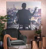 Dome Deco Gin loungechair with velvet fabric