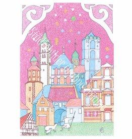 Städtebilder - Urbane Träume Postkarte Wangen