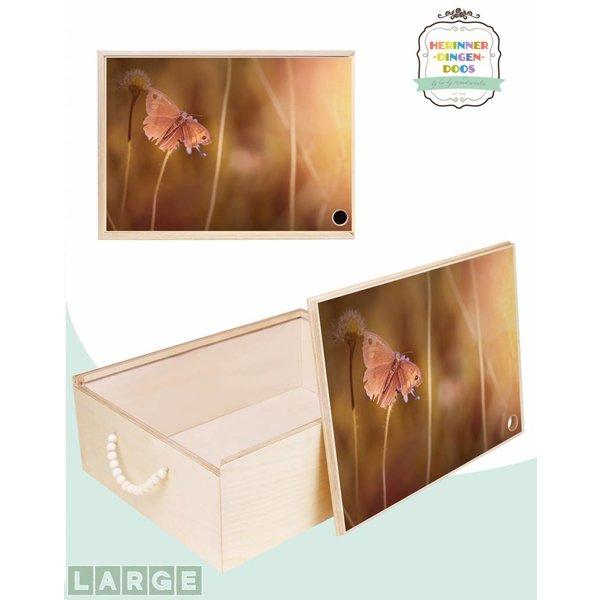 Herinner-Dingen-Doos Gedenkdoos Vlinder bloemenweide
