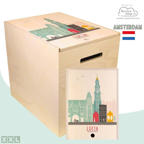 Herinner-Dingen-Doos Skyline Amsterdam