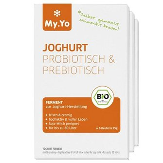 My.Yo Biologisch Yoghurtferment; 6 zakjes á 25 gram