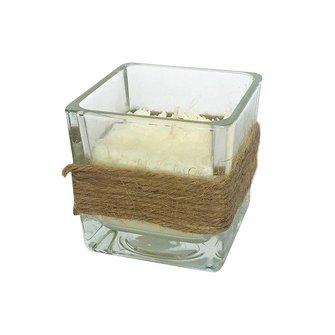 Handgemaakte, biologische kaars van sojawas