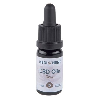 CBD Olie 5%, 10 ml MediHemp (RAW)