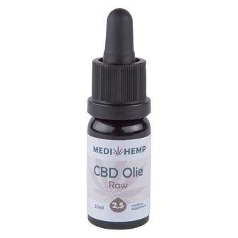 CBD olie 2,5% MediHemp (RAW)