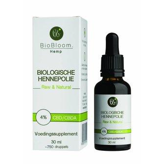 BioBloom CBD/ CBDa olie 4% Biologisch gecertificeerd