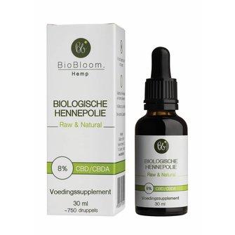 BioBloom CBD/ CBDa olie 8% Biologisch gecertificeerd
