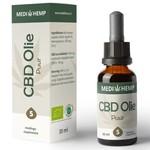 Biologische CBD Olie Puur  5%, 30 ml MediHemp