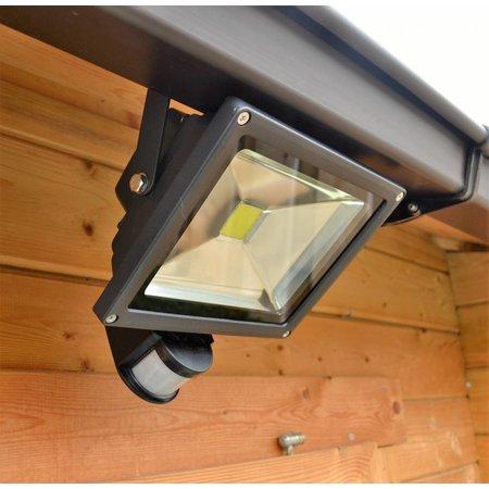 SalesBridges LED 20W Schijnwerper met PIR Sensor Bouwlamp 1600lm 6000K IP65