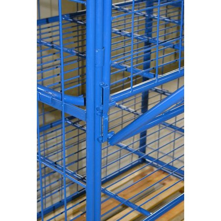 SalesBridges Cage Container metal H1800mm 3 shelves and 2 folding windows