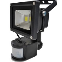 10W LED Floodlight with PIR Sensor IP65 Construction Lamp