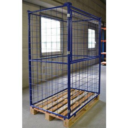 SalesBridges Opzetrand staal H1600mm klapraam voor industriele pallet