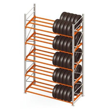 SalesBridges Storage rack for tyres double row