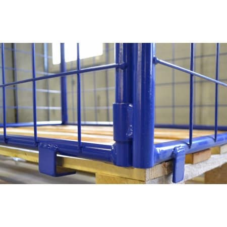 SalesBridges Cage Container steel H800mm folding window with europallet RENTAL