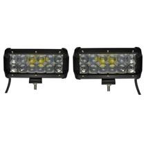 LED 36W set 2 stuks Werklamp 5D Bar Balk CREE Chip 4900lm 6000K IP65