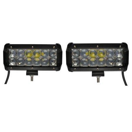 SalesBridges LED Worklamp 36W set of 2 pieces 5D Floodlight Bar CREE Chip 4900lm 6000K IP68