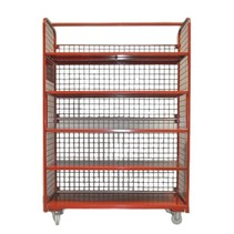 Order Picking Mesh Shelf Trolley Rollcontainer RAL5010