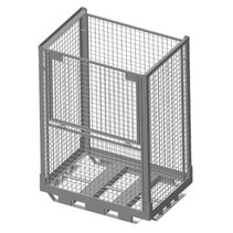 Heavy Duty Cage Container steel H1600mm folding window with steel base