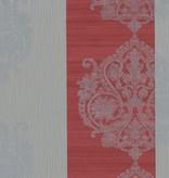 Dutch Wallcoverings San Priamo ornament/str. rd/gr