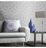 Dutch Wallcoverings San Priamo dots grijs