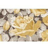 Dutch Wallcoverings San Priamo bloem bruin