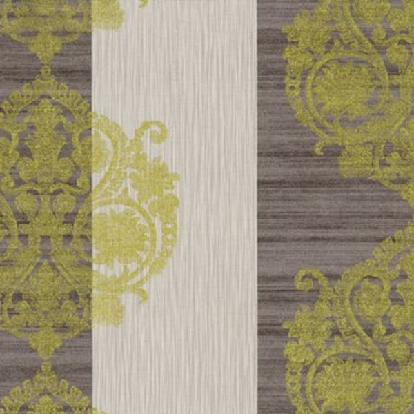 Dutch Wallcoverings San Priamo ornament/str. bruin