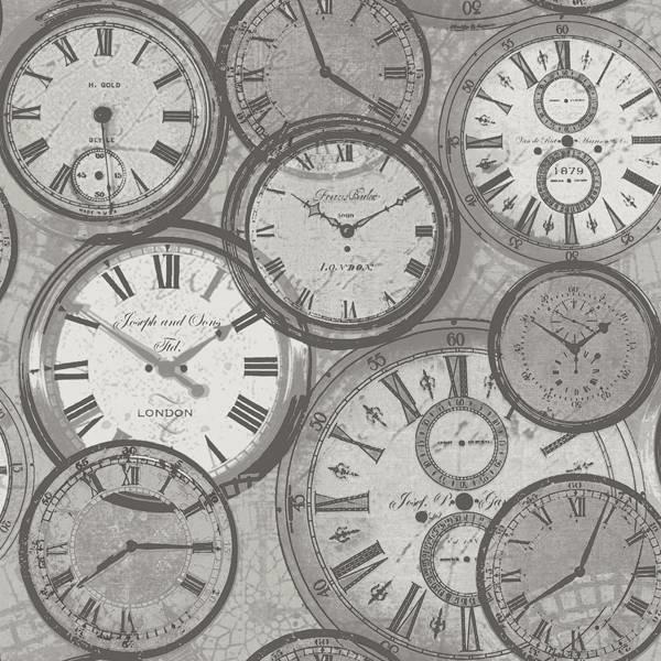 Exposed klokken grijs