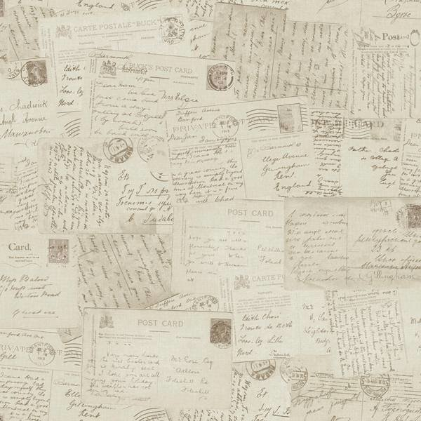 Dutch Wallcoverings Exposed kaarten beige