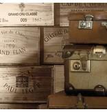 Dutch Wallcoverings Exposed wijnkisten beige