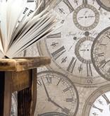 Dutch Wallcoverings Exposed klokken beige