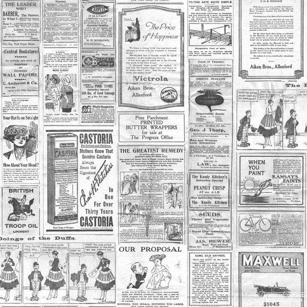 Noordwand Noordwand Memories G56143 Vintage Krantenadvertenties